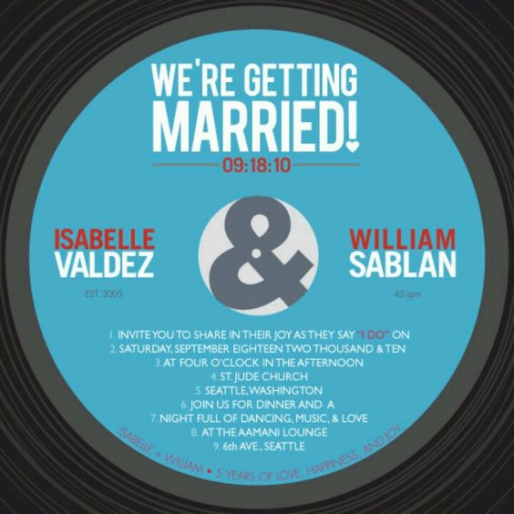 Vinyl record invitations | Wedding Ideas | Pinterest | Vinyls ...