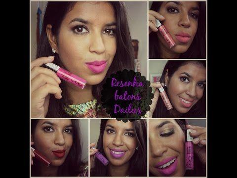 Assista esta dica sobre Resenha Batons Dailus   Pele morena e muitas outras dicas de maquiagem no nosso vlog Dicas de Maquiagem.