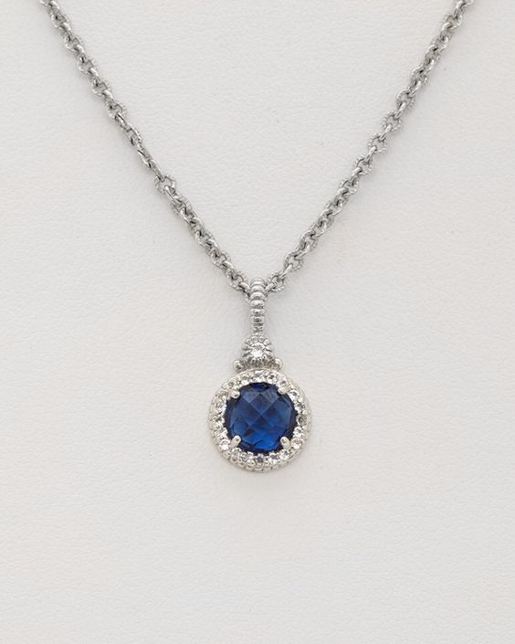 Judith Ripka Silver Corundum Halo Necklace is on Rue. Shop it now.