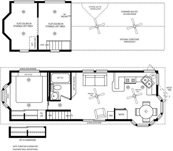 Park Model Double Loft: Cavco Park Models---Front Kitchen, Center Exit
