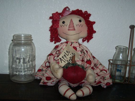 Primitive Handmade Apple Annie Super Cute by BWPS on Etsy, $25.00