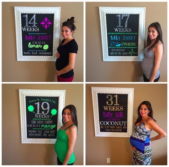 weekly chalkboard pregnancy signs!!
