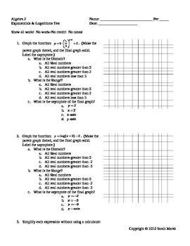 math worksheets logarithmic functions solving logarithmic and exponential equations worksheet. Black Bedroom Furniture Sets. Home Design Ideas