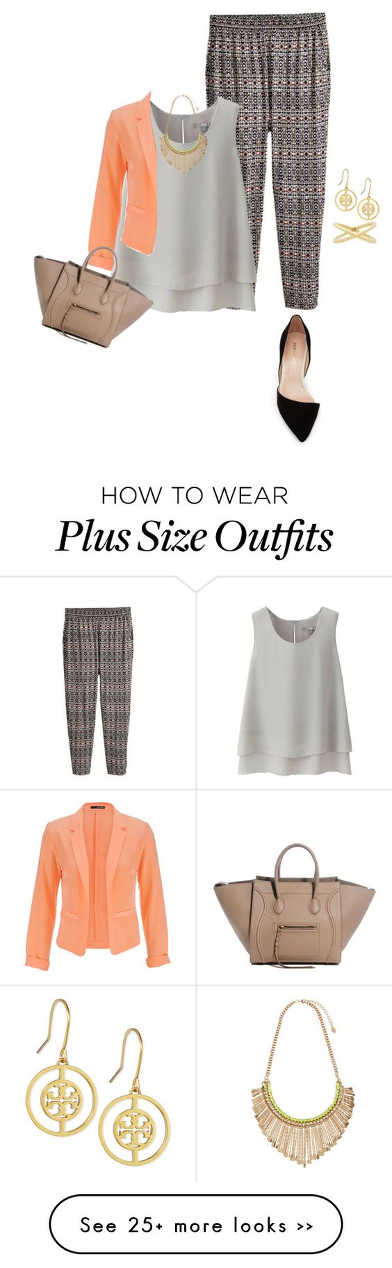 """""""easy plus size summer office look3"""" by kristie-payne on Polyvore"""