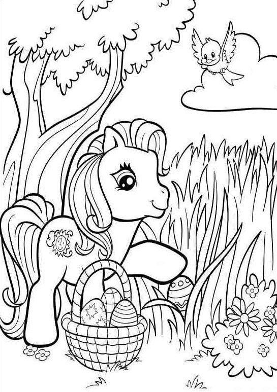 Free Printable My Little Pony Coloring Pages For Kids My Little Pony Coloring Free Easter Coloring Pages Easter Coloring Sheets