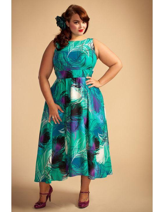 Lady V London Green & Purple Swirl Print Dress