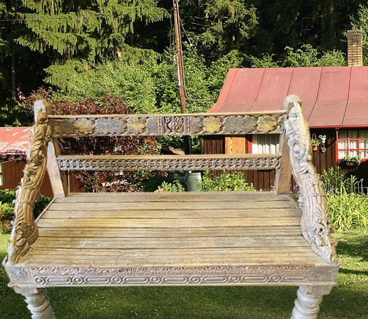 hand carved bench antique vintage wooden by mogulgallery benches furniture india furniture antique home decoration furniture