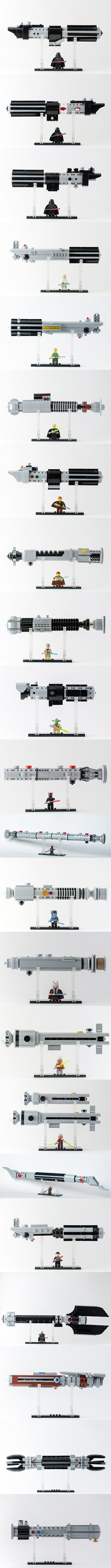 LEGO Star Wars Exposed Lightsabers