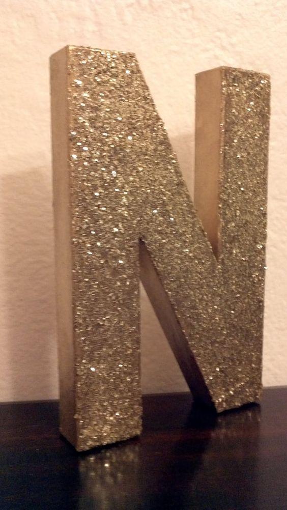 easy - glitter on paper mache letters   # Pinterest++ for iPad #