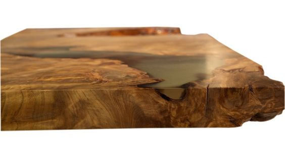Kunstvolle Kauri Tischplatte, außergewöhnliche Holzkunst im - au ergew hnliche schlafzimmer betten