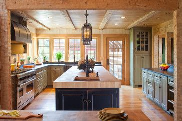 Farmhouse Kitchen Design Ideas 101 kitchen design ideas pictures of country kitchens decorating Farmhouse Kitchen Design Ideas Pictures Remodel And Decor Love The Beams That Probably Replaced A Load Bearing Wall Or Easily Could If We Had To