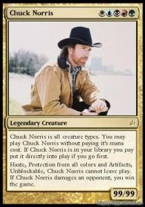 LOL Chuck Norris Playing Card