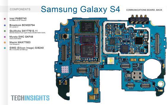 Samsung Galaxy S4 GT-I9500 motherboard