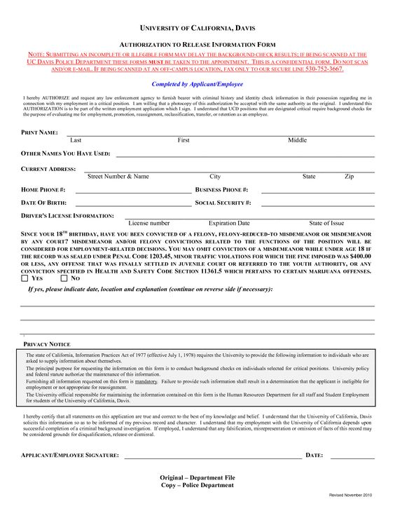 Check Authorization Form Template Check out this Background Check - authorization to release information template