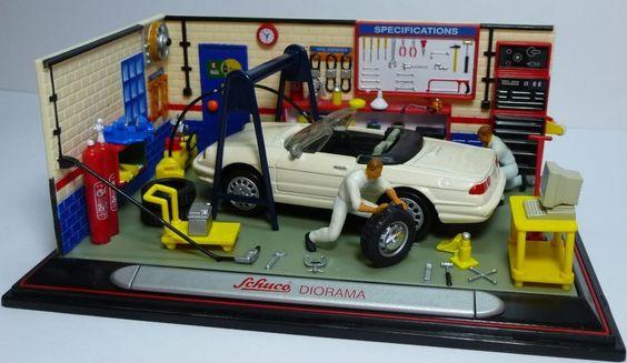 Schuco Junior Line Nr27032 Diorama with Alfa Romeo Alfa spider (custom) 1:43 MIB #Schuco #AlfaRomeo