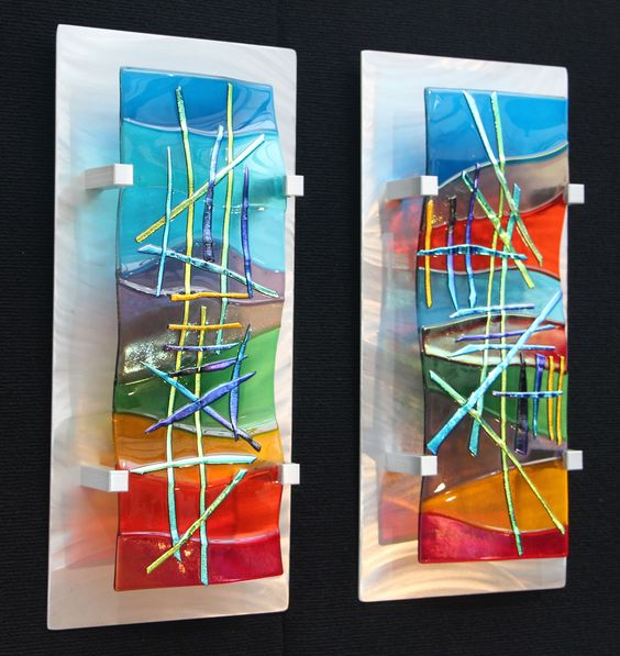 Fused glass wall art by frank thompson glass ideas for Glass wall art