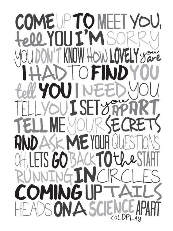 Jeremygwa Shop Coldplay Lyrics Coldplay Songs Coldplay Quotes