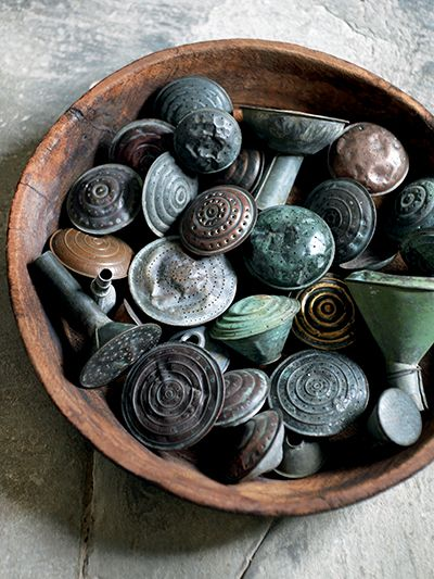 watering can spouts - awesome - I've never seen a collection like this before!