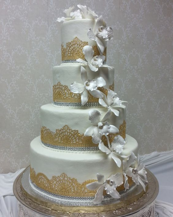 12 0 Aud Edible Ready Made Sugar 3 Large Laces 42in Cake Birthday Anniversary Engagement Ebay Home Wedding Cake Stand Square Wedding Cake Planning Cake