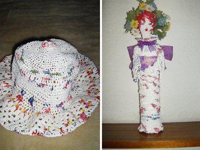 Crochet con bolsas de plástico