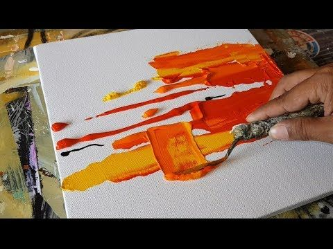 Abstract Painting Easy Textural Abstract Painting Brayer And