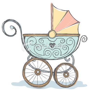 Antique baby stroller   Stock Illustration   iStock
