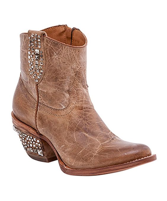 Look at this Pearl Stud Pearl Shortie Leather Cowboy Boot - Women on #zulily today!