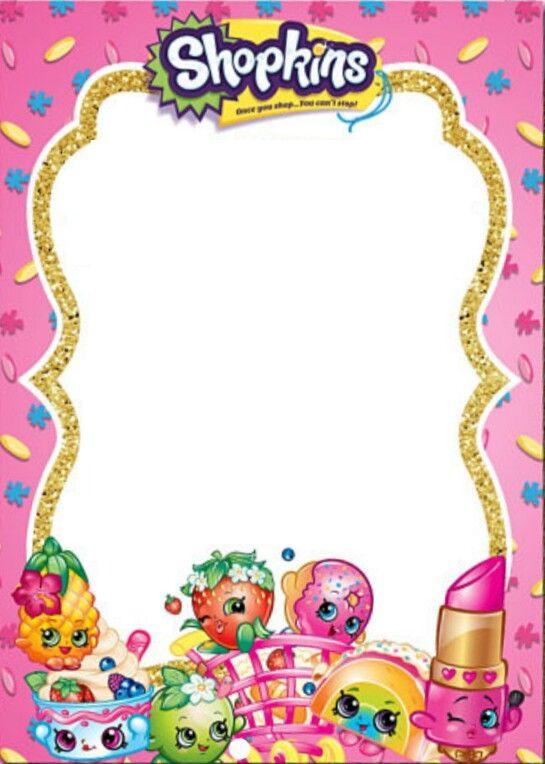 Ghhhhb Tarjetas Invitacion Cumpleaños Shopkins Fiesta Y