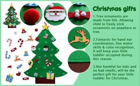 Diy Felt Christmas Tree Best Gift For Children Diy Felt Christmas Tree Felt Christmas Felt Diy