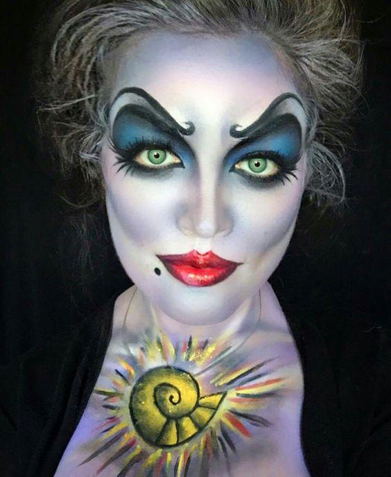 Idées de maquillage halloween femme à copier - ursula