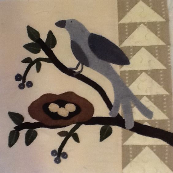 bird wool applique - Google Search