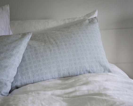Pillowcases & Cushion Covers | Duck Egg Dot