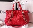 Christian Dior cannage red bag