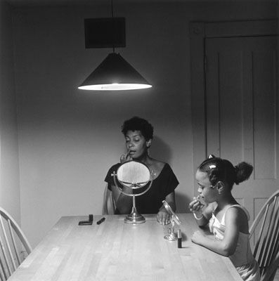 by Carrie Mae Weems -- 1990 -- part of her Kitchen Table Series, which you MUST click here to see all of!