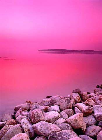 Pink sky.