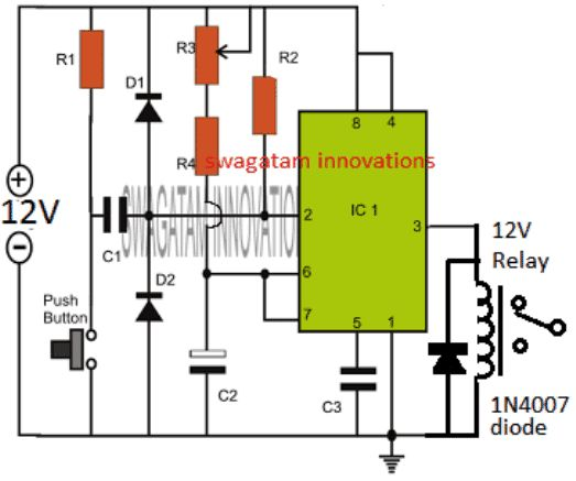 Timer Relay Off Delay Timer Wiring Diagram