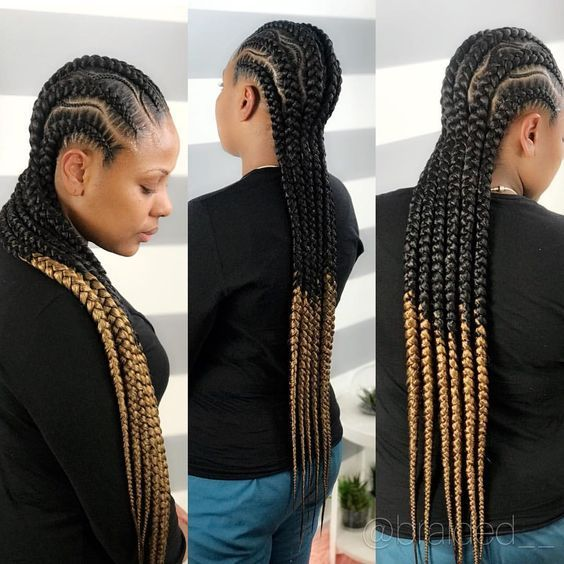 Cornrows Braided Hairstyles 2019 100 Beautiful Ebony Ladies Braided Hairstyles To Try Out Braided Hairstyles Cornrow Hairstyles African Braids Styles