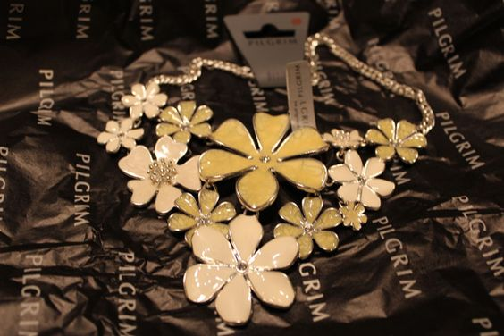 #Pilgrim - necklace with flowers, #danish #design