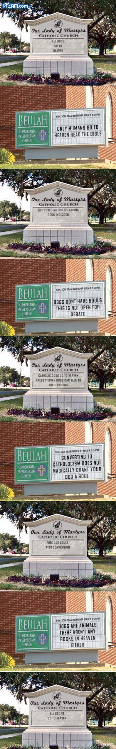 church sign wars