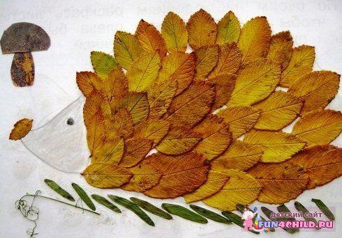 Какую поделку сделать из листьев