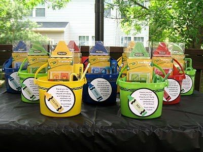 Crayola party favors