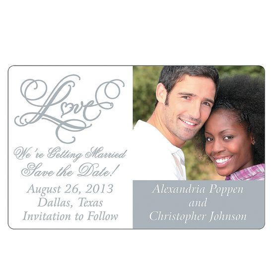 """Custom Photo Two Hearts """"Save The Date"""" Magnets - OrientalTrading.com"""