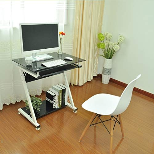 Portable Laptop Desk With Side Keyboard Modern Writing Desk Pc