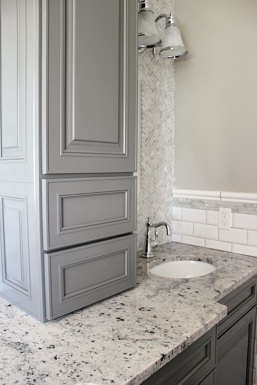 Beautiful colors and cabinet ideas on pinterest Kraftmaid bathroom cabinets