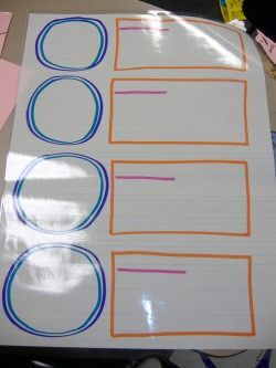 TONS of graphic organizers. She laminates hers so she can use them again and again.