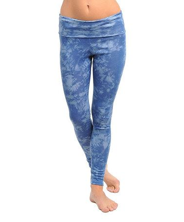 This Blue Tie-Dye Leggings is perfect! #zulilyfinds  $12.99  Look like fun!!!