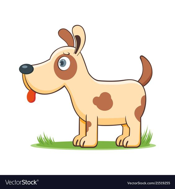 A Happy Cartoon Dog Comic Farm Animal Character Vector Illustration Download A Free Preview Or High Quality Adobe Illus Happy Cartoon Cartoon Dog Dog Vector