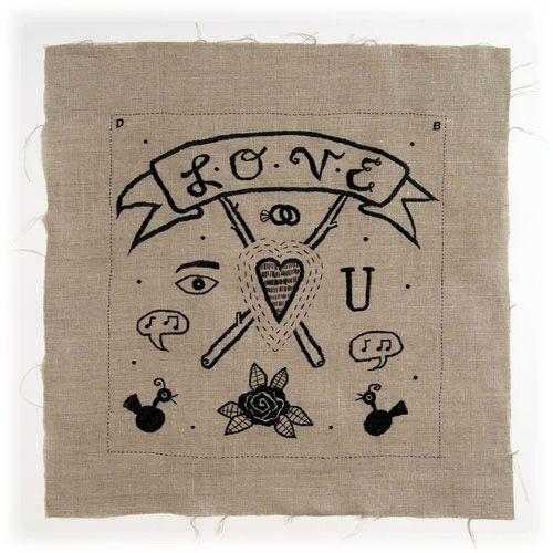 Beautiful embroidery by Deborah Slabeck Baker.