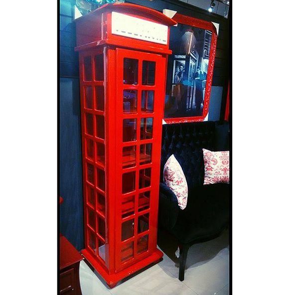 Cristaleira Telephone Londres | Arte Moderna Retrô!