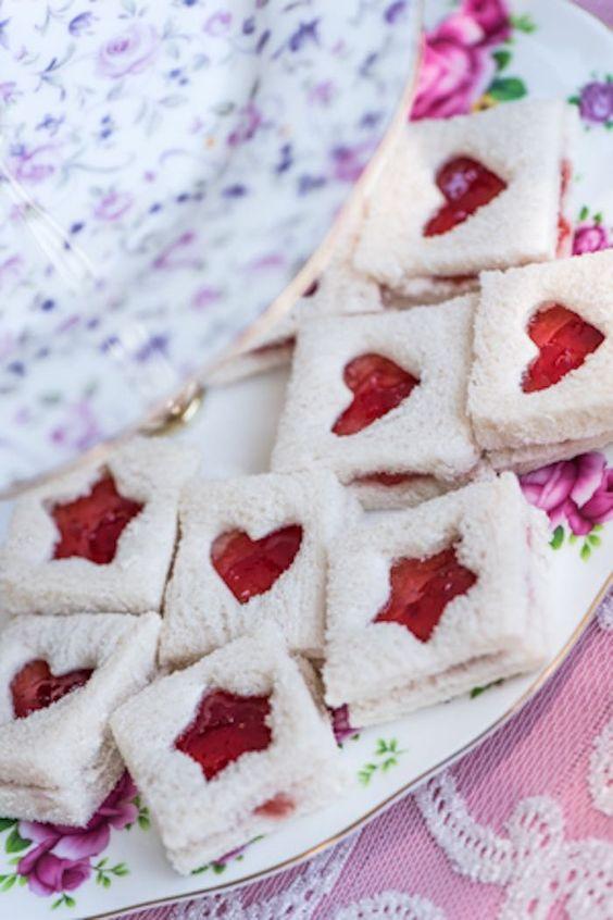 Jam Sandwiches with Heart Windows via Kara's Party Ideas | karaspartyideas.com